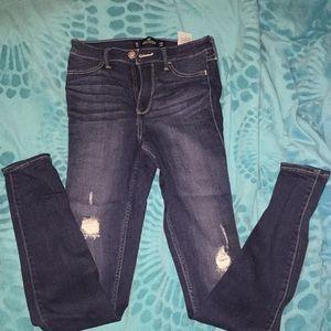 Hollister denim dark navy jeans